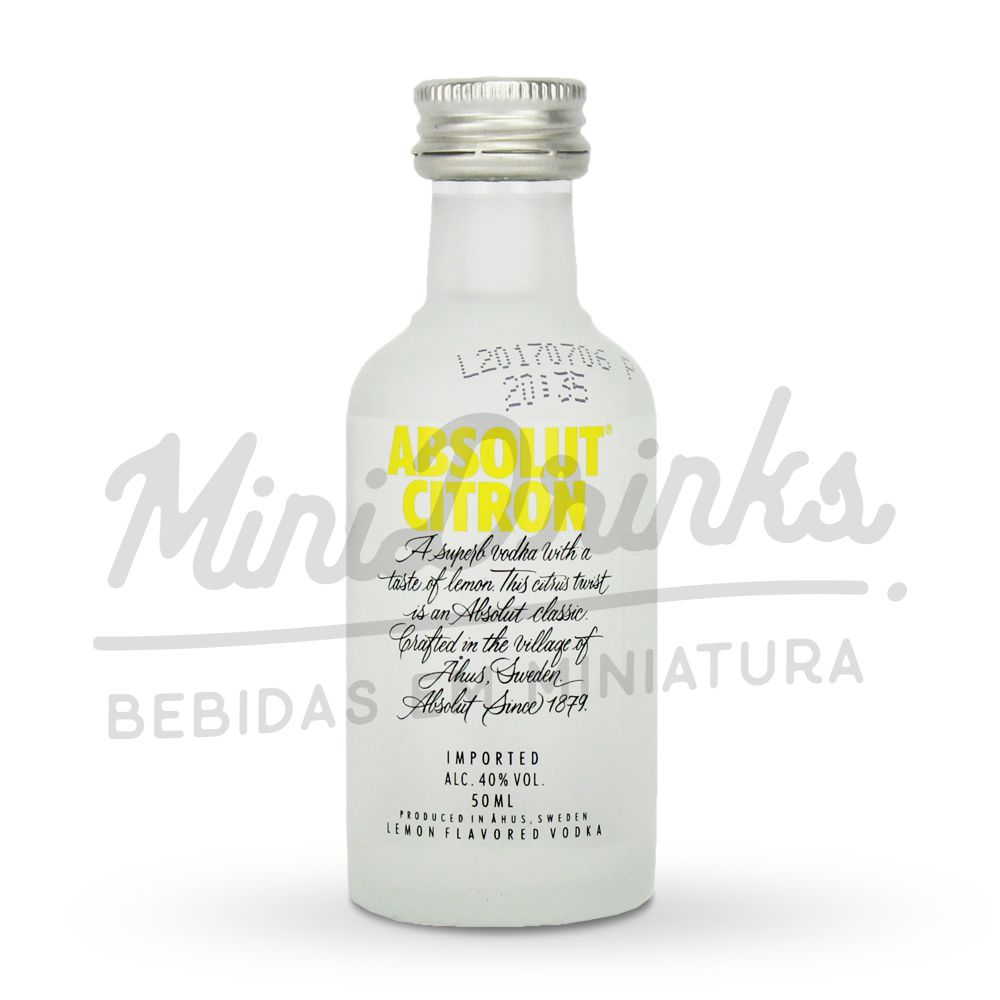 Mini Vodka Absolut Citron 50ml