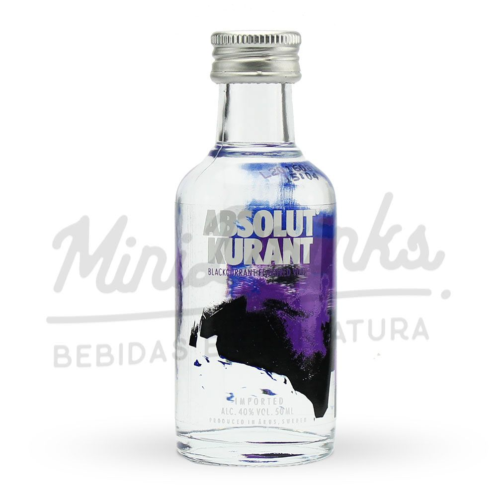 Mini Vodka Absolut Kurant 50ml
