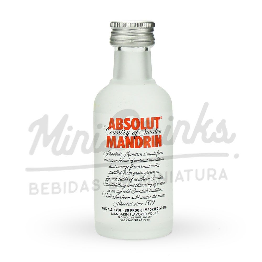 Mini Vodka Absolut Mandrin 50ml
