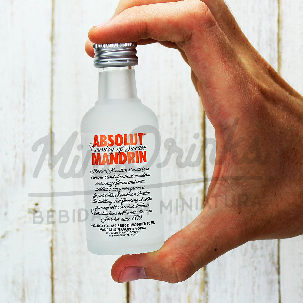 Mini Vodka Absolut Mandrin 50ml