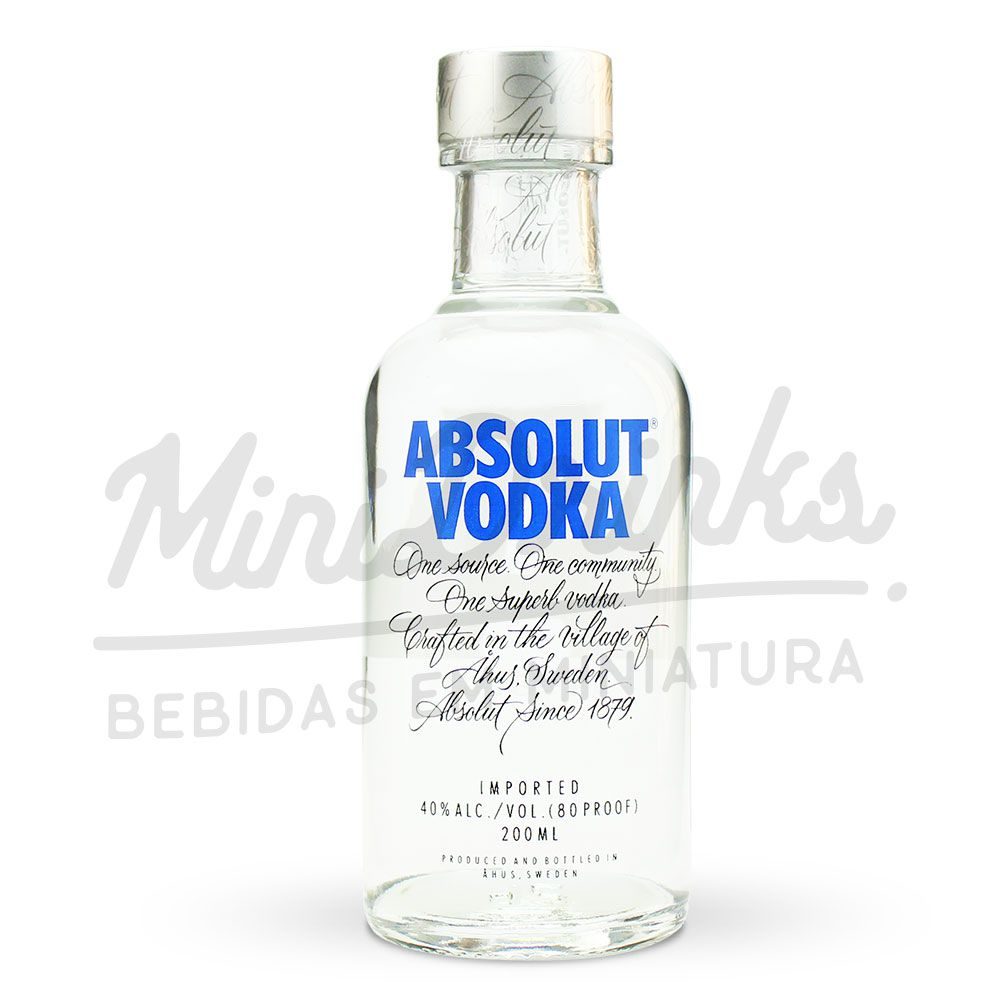 Mini Vodka Absolut Natural 200ml