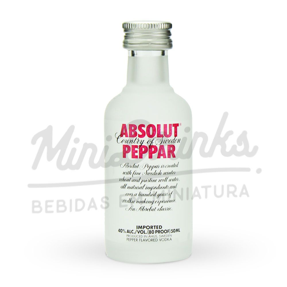 Mini Vodka Absolut Peppar 50ml