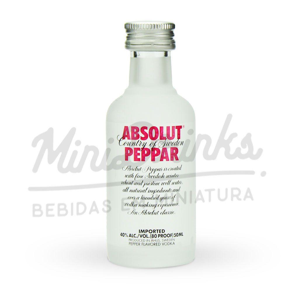 Mini Vodka Absolut Peppar 50ml