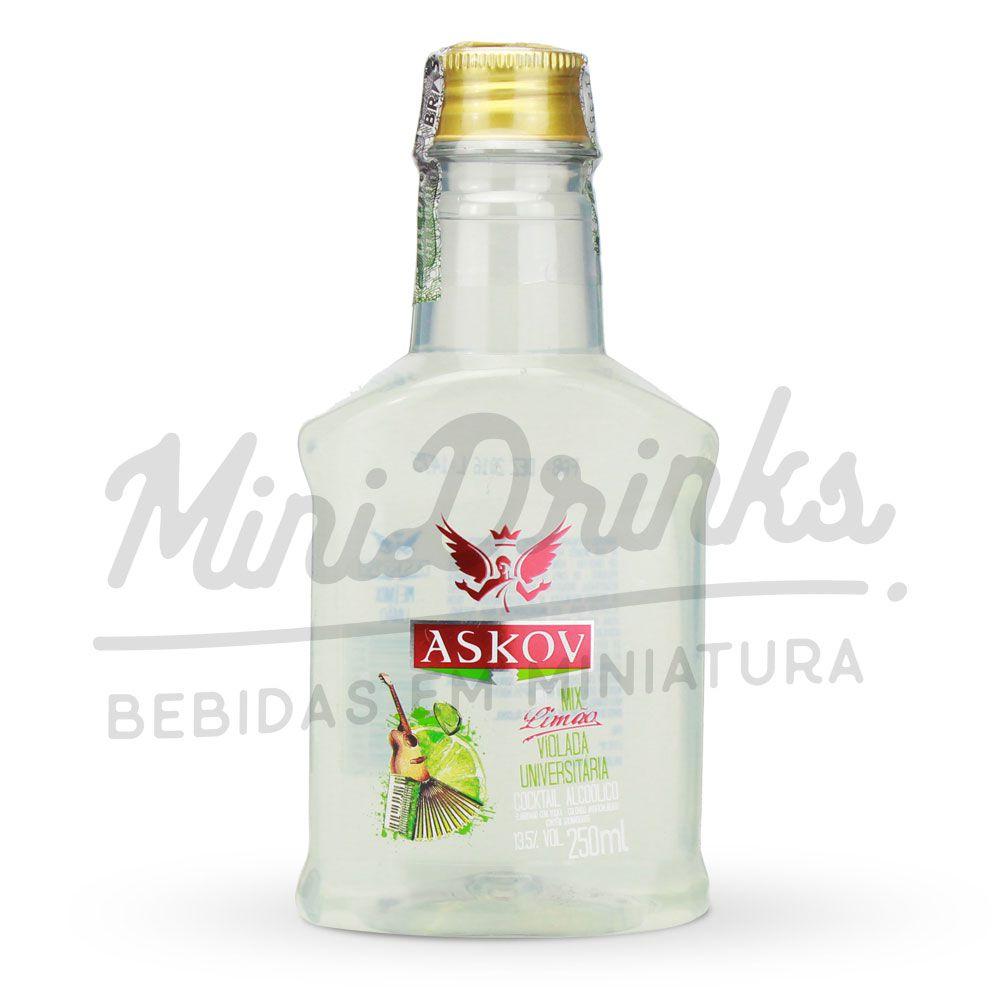 Mini Vodka Askov Limão Petaca 250ml