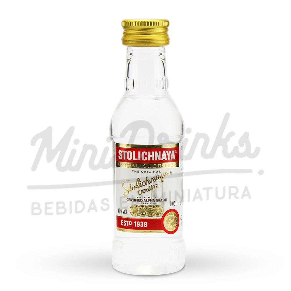Mini Vodka Stolichnaya Plástico 50ml