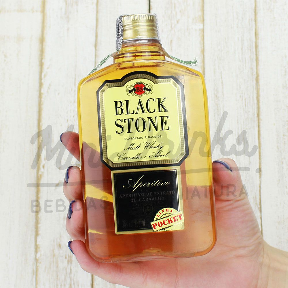 Mini Whisky Black Stone Pocket 250ml