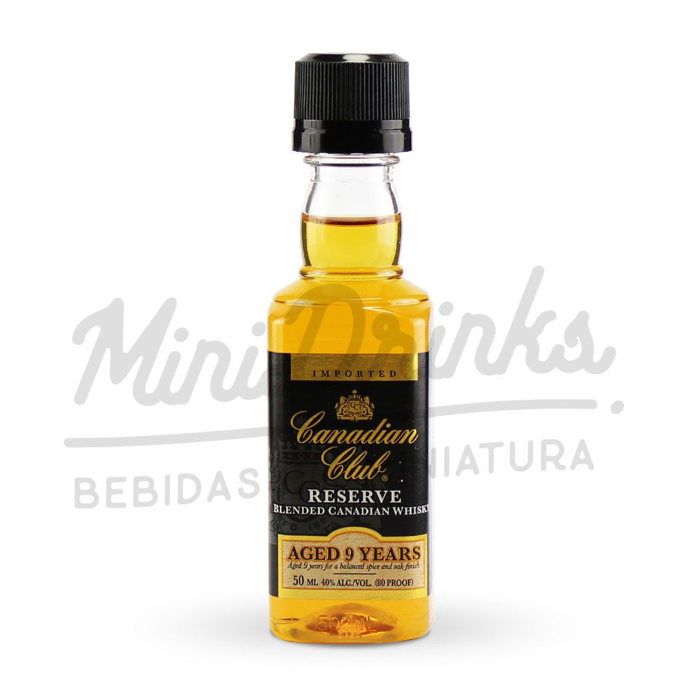 Mini Whisky Canadian Club Reserve 9 Years Aged 50ml