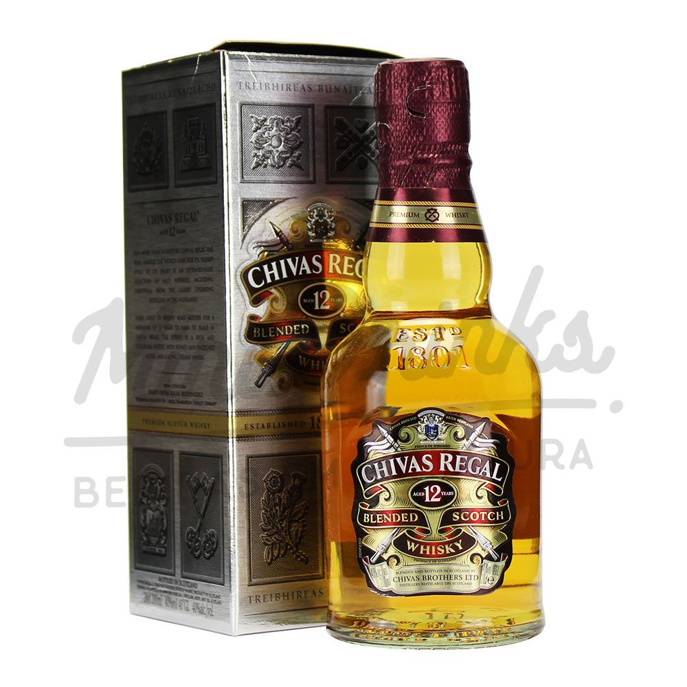 Mini Whisky Chivas 12 anos 200ml