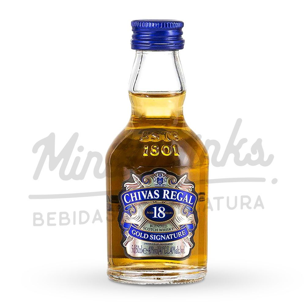 Mini Whisky Chivas Regal 18 anos 50ml