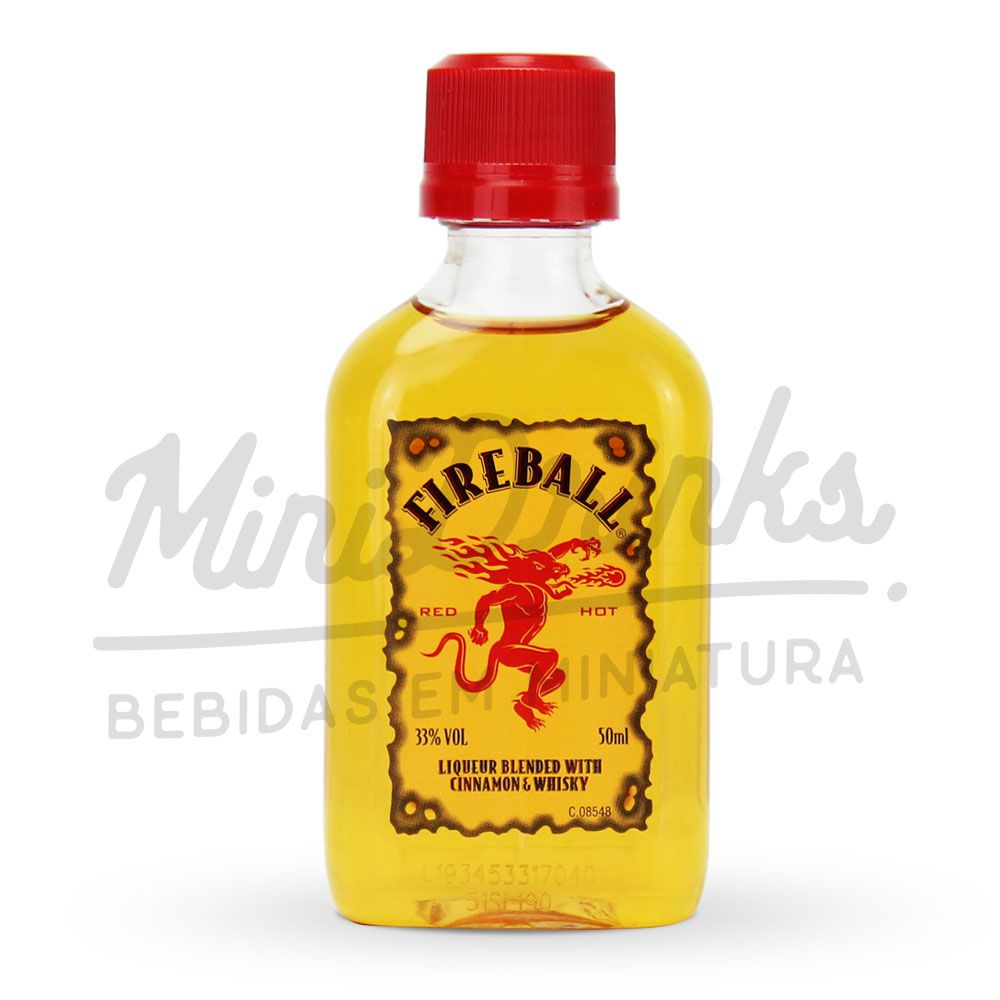 Mini Whisky Fireball Canela 50ml