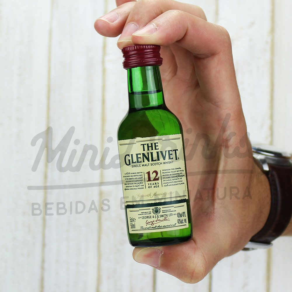 Mini Whisky Glenlivet 12 anos 50ml