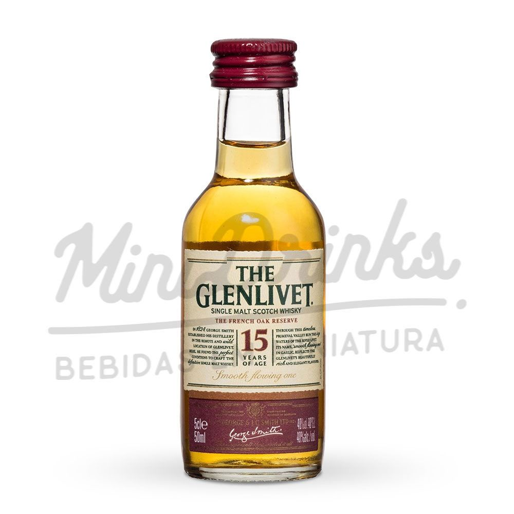 Mini Whisky Glenlivet 15 anos 50ml