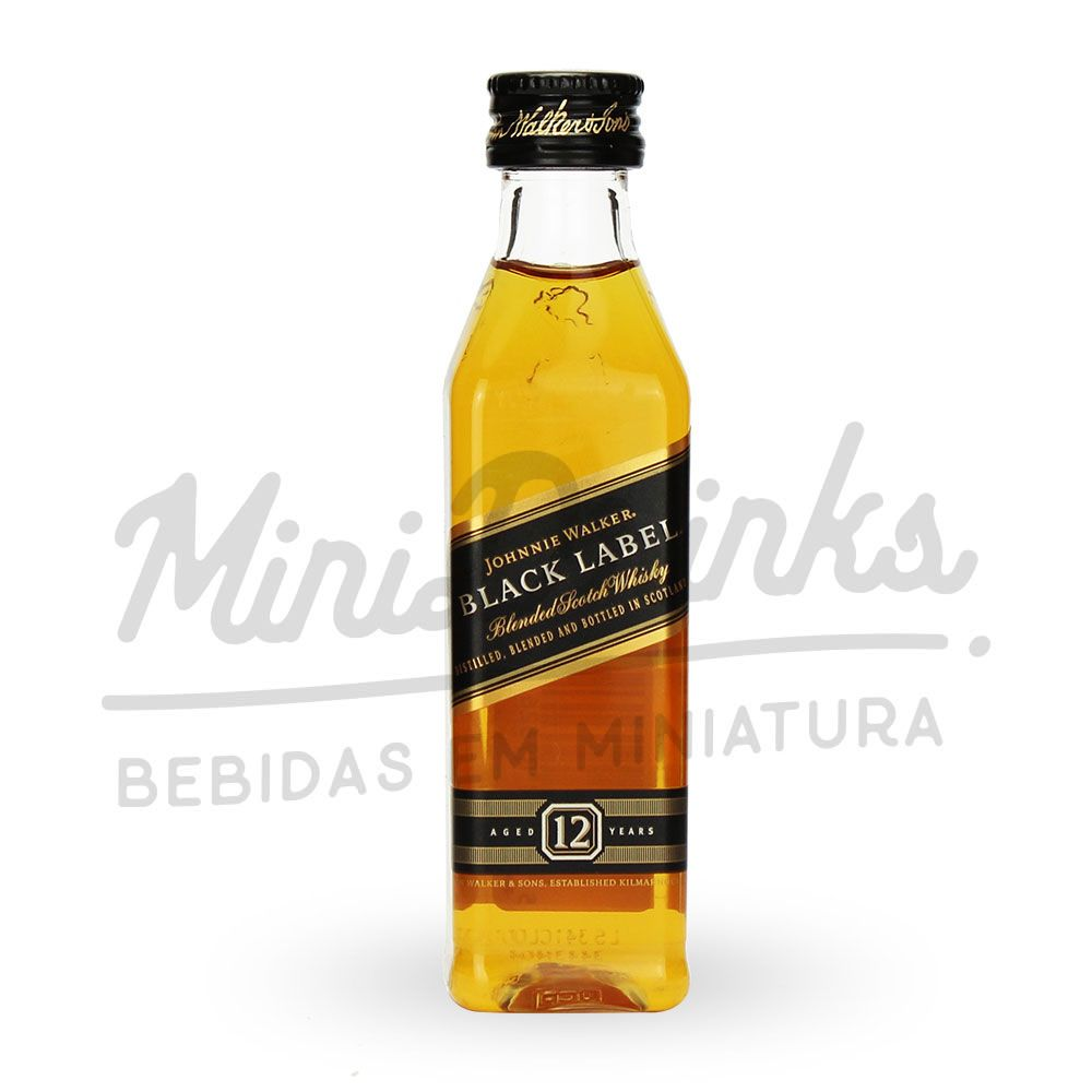 Mini Whisky Johnnie Walker Black Label 50ml