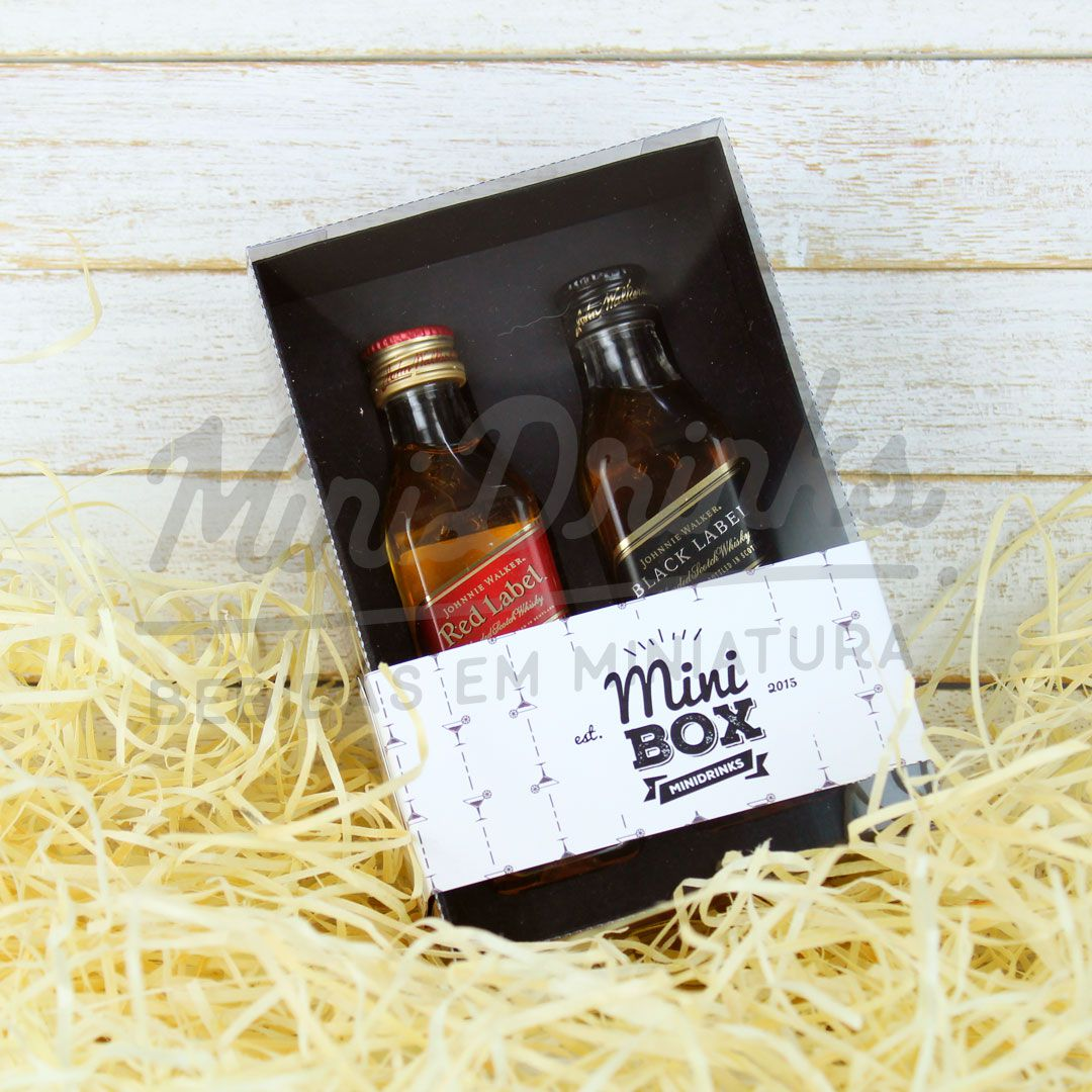 MiniBox Johnnie Walker Classic Preta