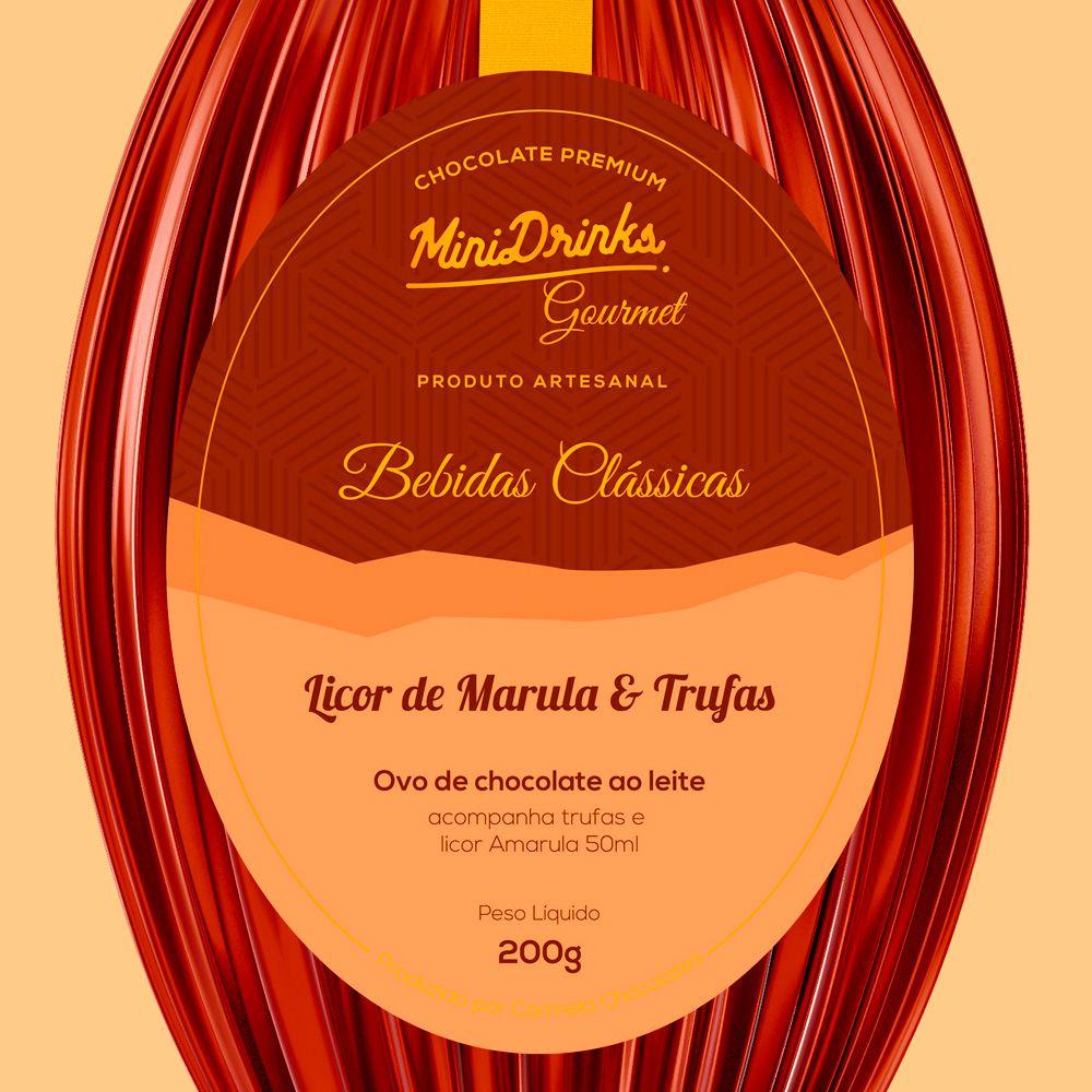 Ovo de Chocolate Minidrinks Gourmet Com Amarula 240g