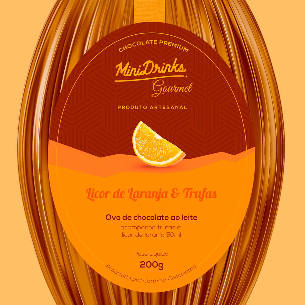 Ovo de Chocolate Minidrinks Gourmet Com Licor de Laranja 240g