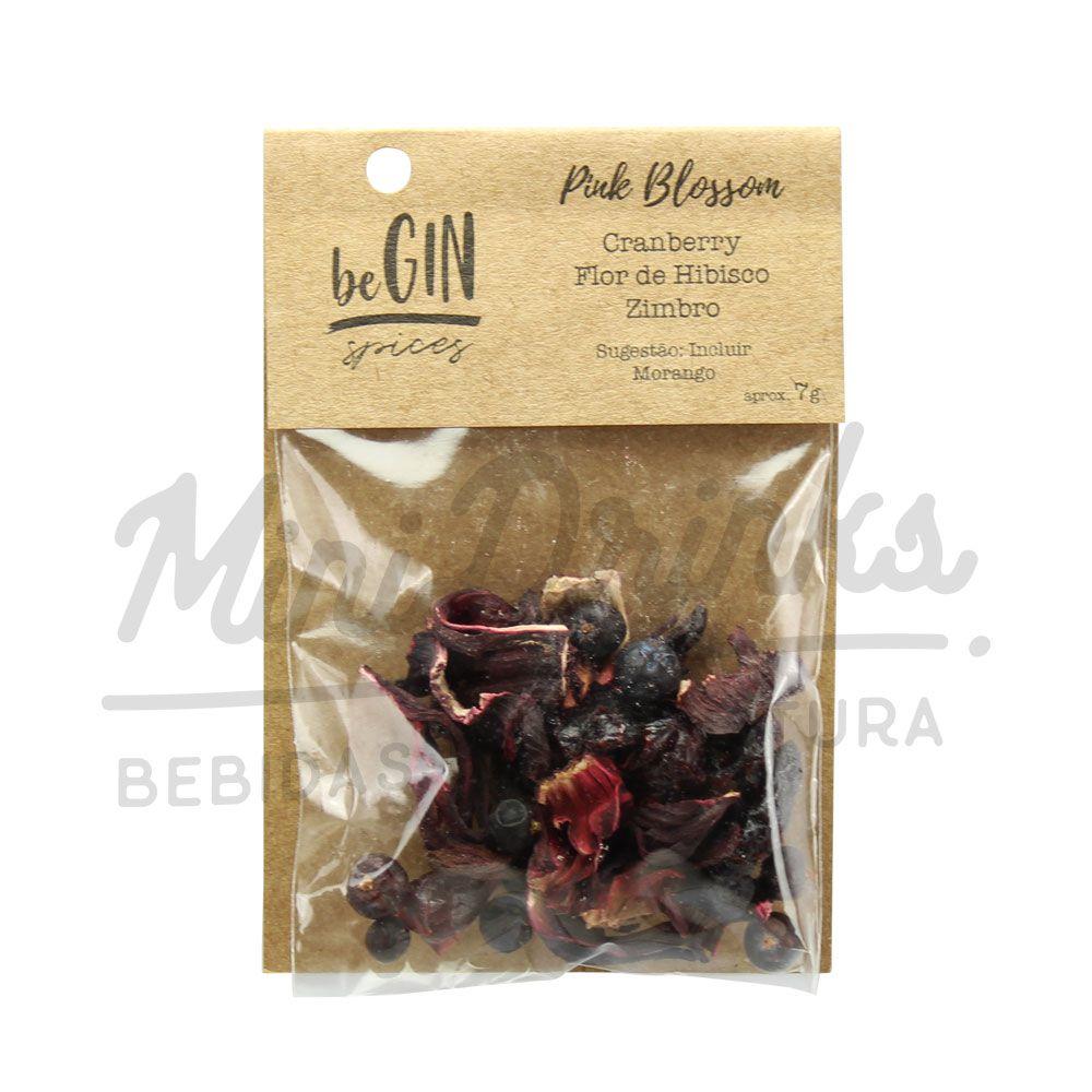 Pack 12 Sachês Especiarias para Gin Tônica Pink Blossom beGin
