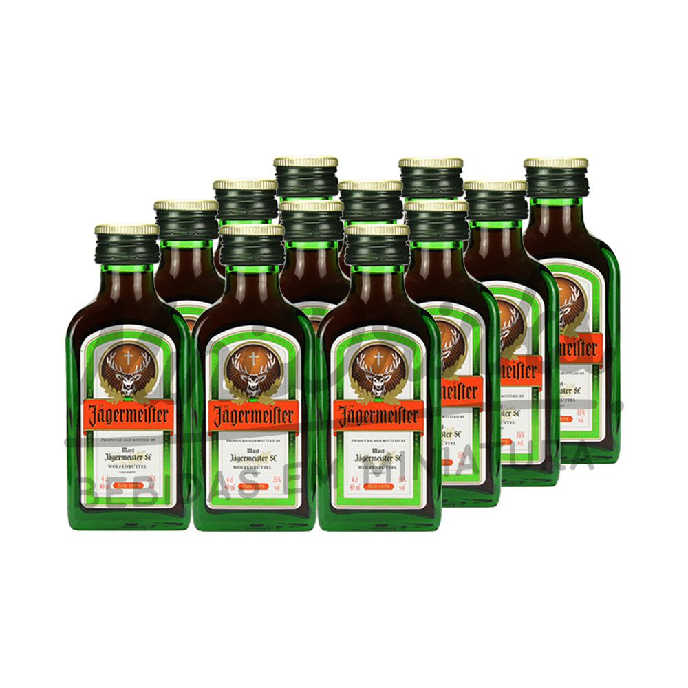 Pack 12 Un Mini Aperitivo Jagermeister 40ml