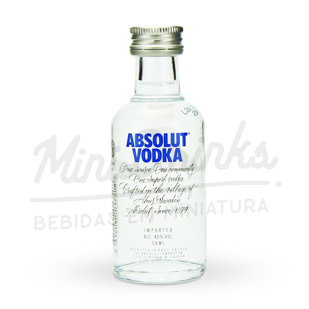 Pack 12 Un Mini Vodka Absolut Natural 50ml