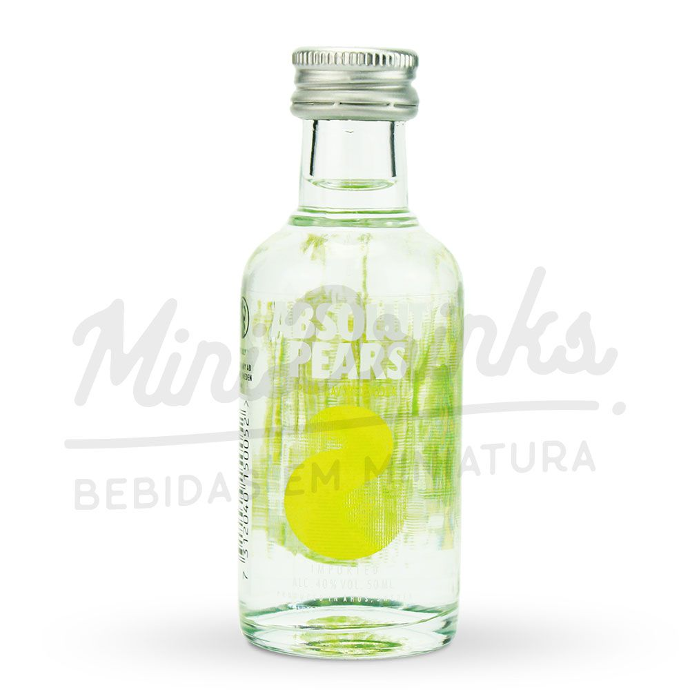 Pack 12 Un Mini Vodka Absolut Pears 50ml