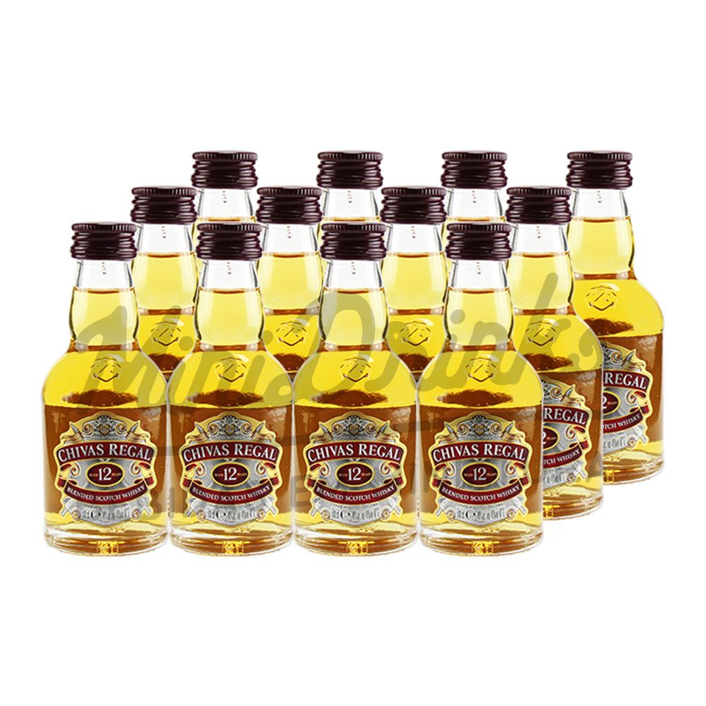 Pack 12 Un Mini Whisky Chivas 12 anos 50ml
