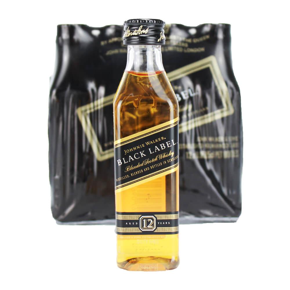 Pack 12 Un Mini Whisky Johnnie Walker Black Label 50ml