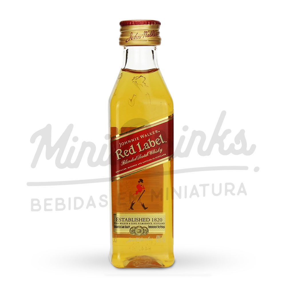 Pack 12 Un Mini Whisky Johnnie Walker Red Label 50ml