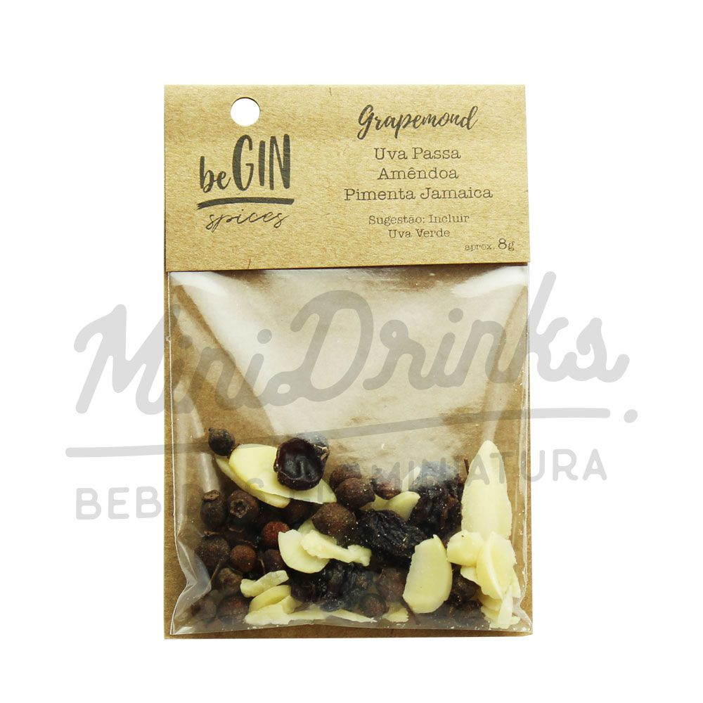 Pack 12 Un Sachês Especiarias para Gin Tônica Grapemond beGin