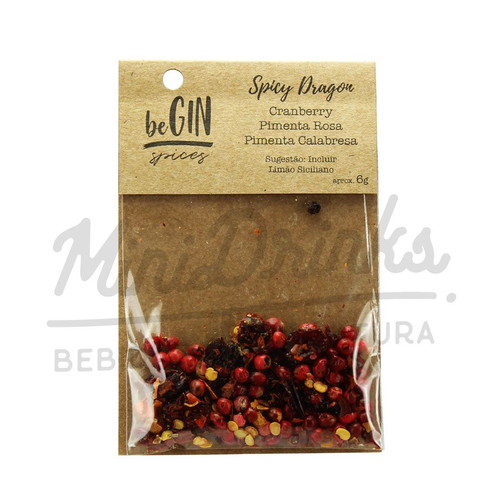 Pack 12 Un Sachês Especiarias para Gin Tônica Spicy Dragon beGin