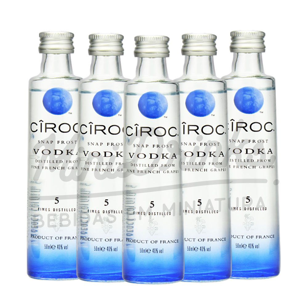 Pack 5 Un Mini Vodka Ciroc Natural 50ml