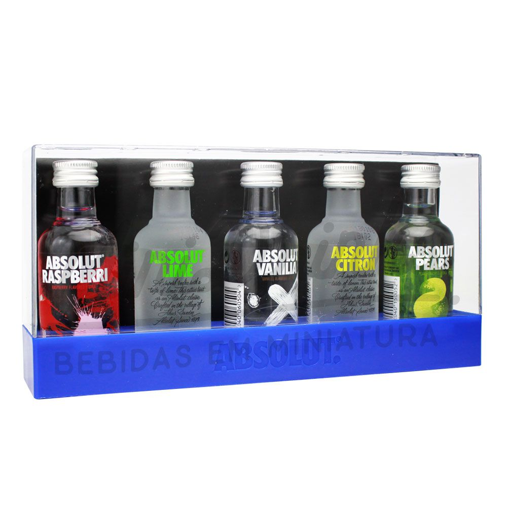 Vodka Absolut Kit 5 X 50ml (Nova Embalagem)
