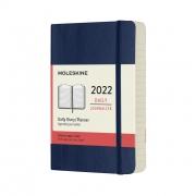 Agenda Moleskine Diária 12 Meses, De Bolso, Azul, Capa Flexível