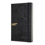 Caderno Moleskine, Edição Limitada James Bond, Títulos, Pautado, Preto, Grande (13 x 21 cm)