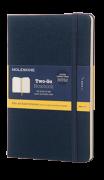 Caderno Moleskine Two Go, Azul Oriental, Capa Dura, Pautado e Sem Pauta, Capa em Tecido
