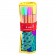 Caneta Extrafina, Stabilo, Point 8825, Estojo Nylon com 25 cores