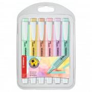 Kit Marcador de Texto, Swing Cool Pastel, Stabilo, Estojo com 6 unidades