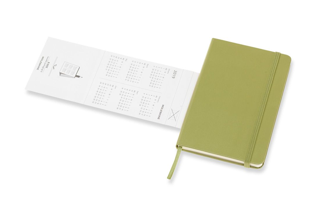 Agenda Moleskine 2019, Semanal Pautada, 12 meses, Tamanho Bolso (9 cm x 14 cm), Verde, Capa Dura