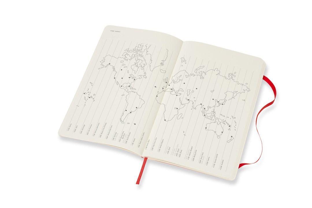 Agenda Moleksine 2019, Semanal Horizontal, 12 meses, Tamanho Grande (13 cm x 21 cm), Vermelho Escarlate, Capa Flexível