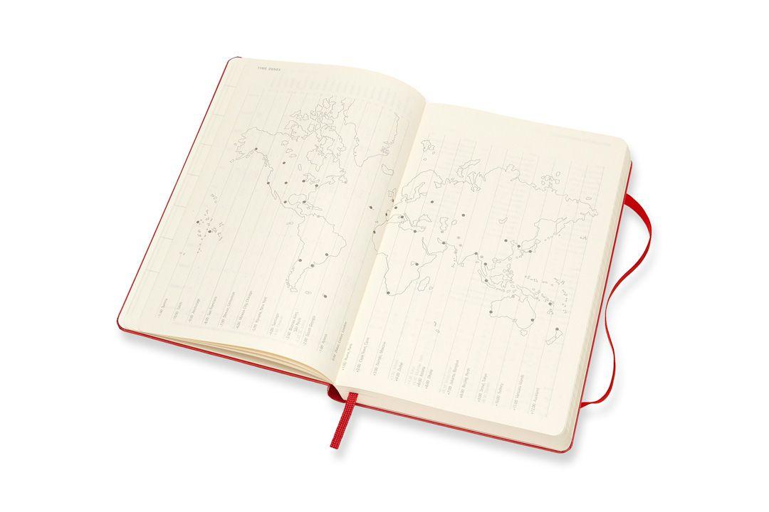Agenda Moleskine 2019, Diária, 12 meses, Tamanho Grande (13 cm x 21 cm), Vermelha Escarlate, Capa Dura