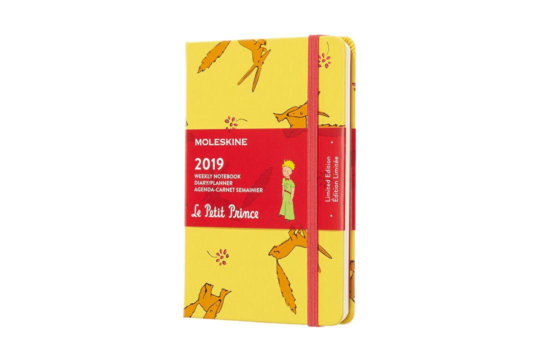 Agenda Moleskine 2019 Edição Limitada Pequeno Príncipe, Semanal, 12 meses, Tamanho Bolso (9 cm x 14 cm), Amarelo Girassol, Capa Dura