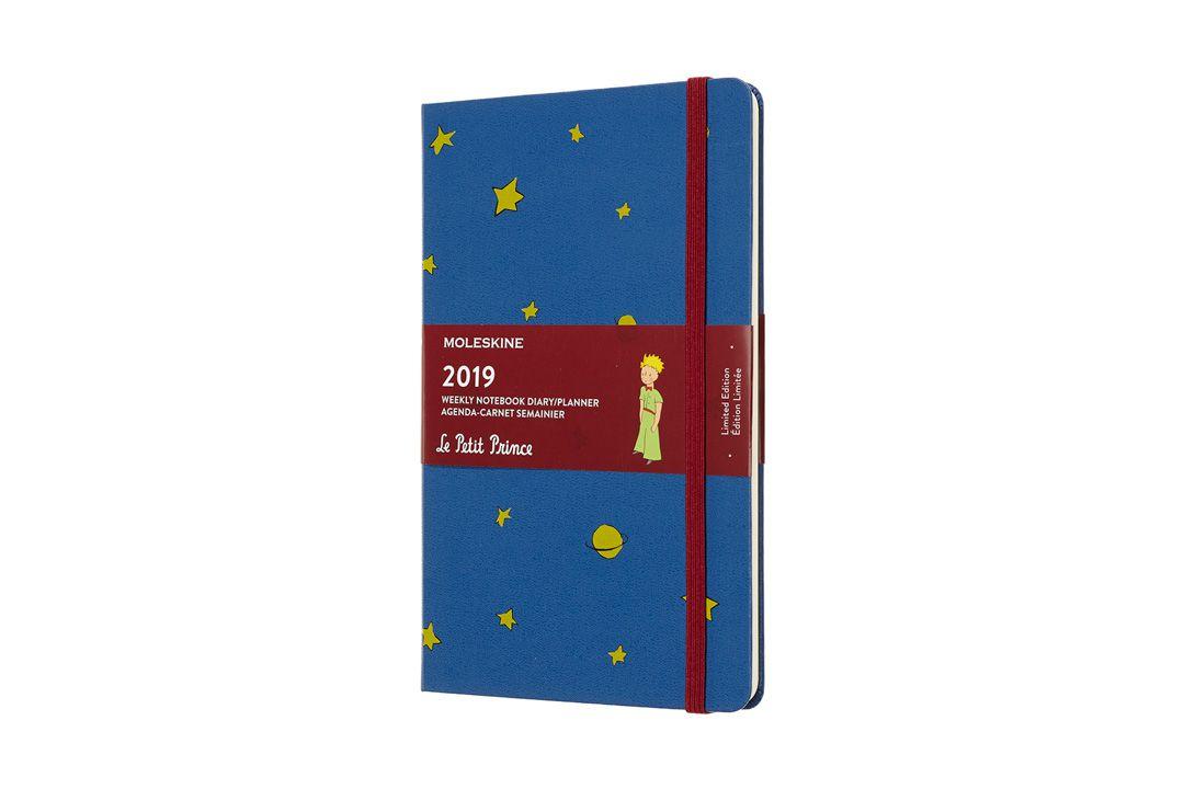 Agenda Moleskine 2019 Edição Limitada Pequeno Príncipe, Semanal, 12 meses, Tamanho Grande (13 cm x 21 cm), Azul Antuérpia, Capa Dura