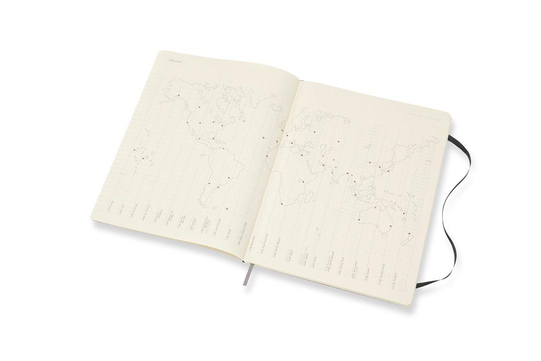 Agenda Moleskine 2019, Mensal, 12 meses, Extra Tamanho Grande (19 x 25 cm), Preta, Capa Flexível
