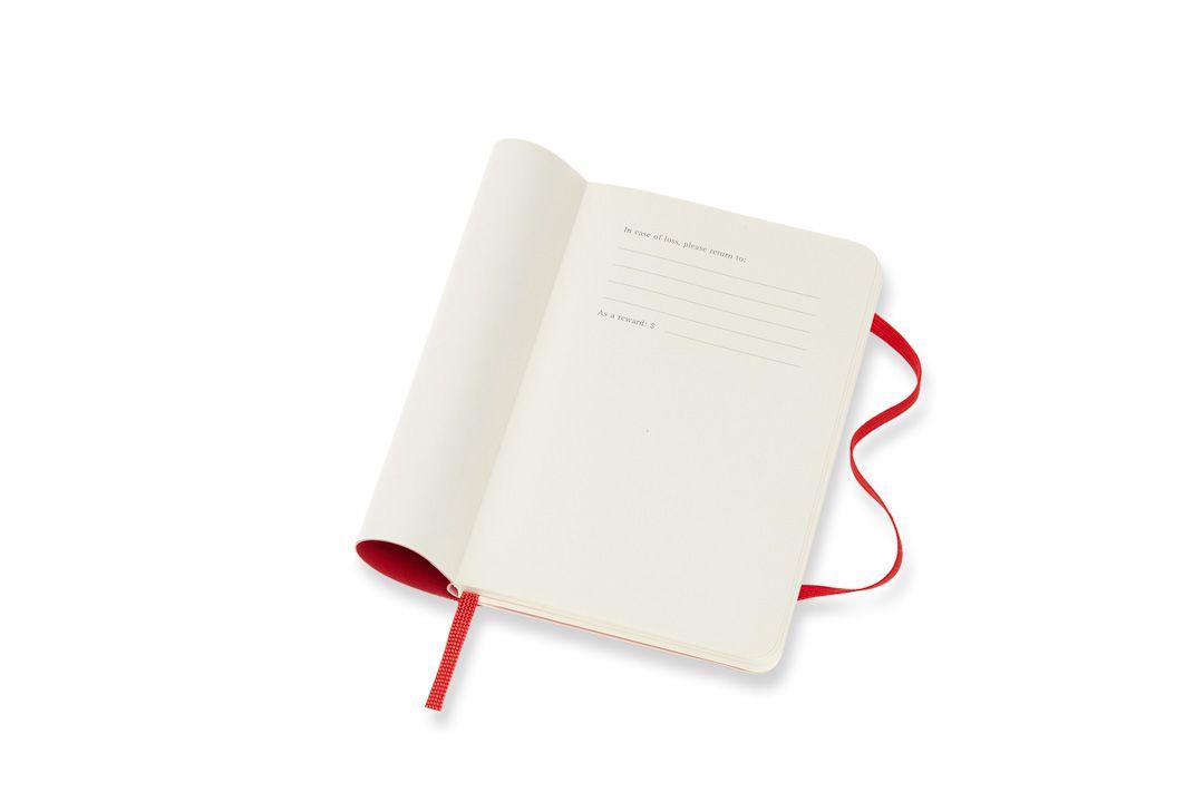 Agenda Moleskine 2019, Semanal Horizontal, 12 meses, Tamanho Bolso (9 cm x 14 cm), Vermelho Escarlate, Capa Flexível