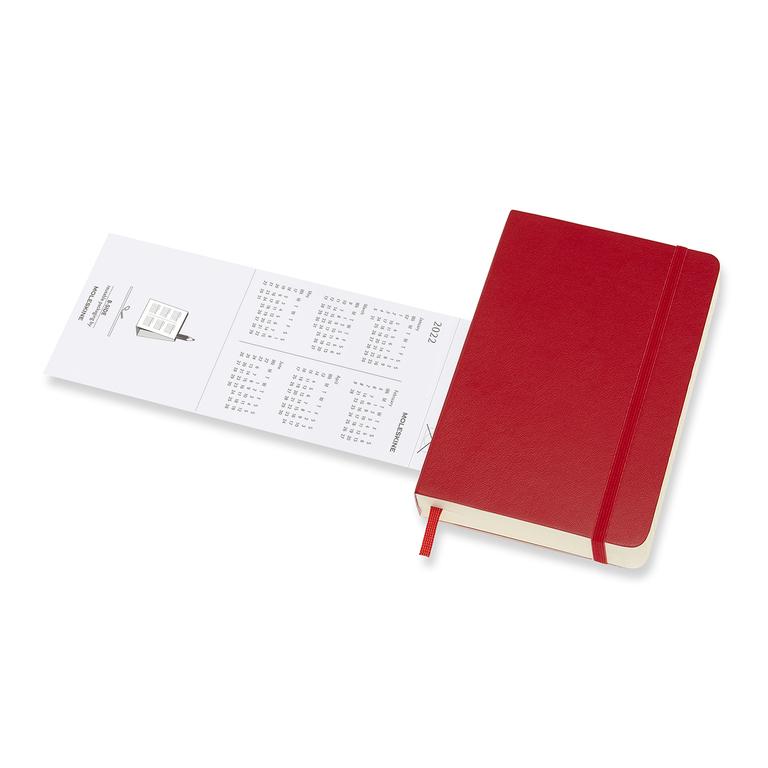 Agenda Moleskine Diária 12 Meses, De Bolso, vermelha, Capa Flexível