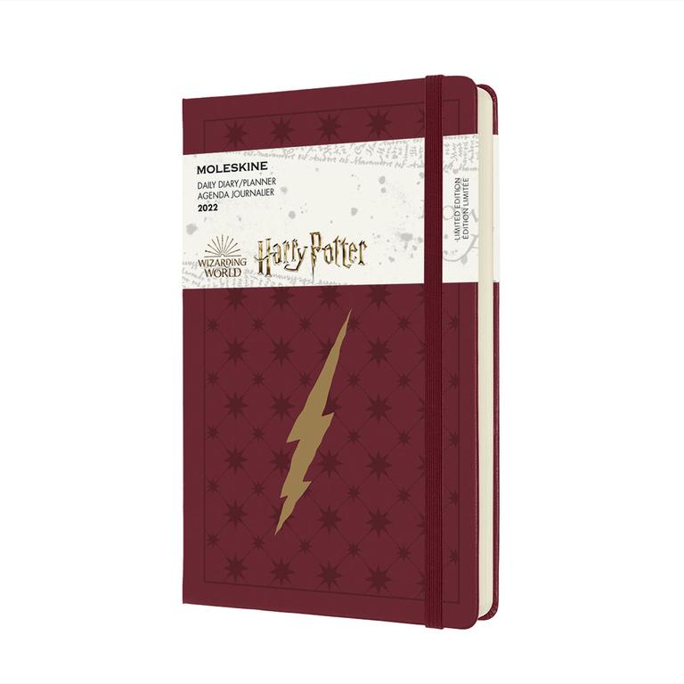 Agenda Moleskine Edição Limitada Harry Potter, Diaria 12 Meses, Grande, Capa Dura