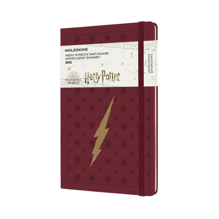 Agenda Moleskine Edição Limitada Harry Potter, Semanal 12 Meses, Grande, Capa Dura