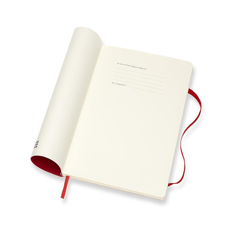 Agenda Moleskine Semanal Pautada 12 Meses, Grande, Vermelha, Capa Flexível