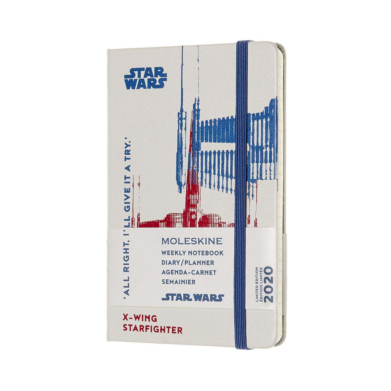 Agenda Moleskine Semanal Pautada 12M, Edição Limitada Star Wars, Bolso, Capa Dura