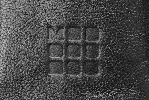 Bolsa Clássica Moleskine, de Couro, para Equipamentos Digitais, Preta