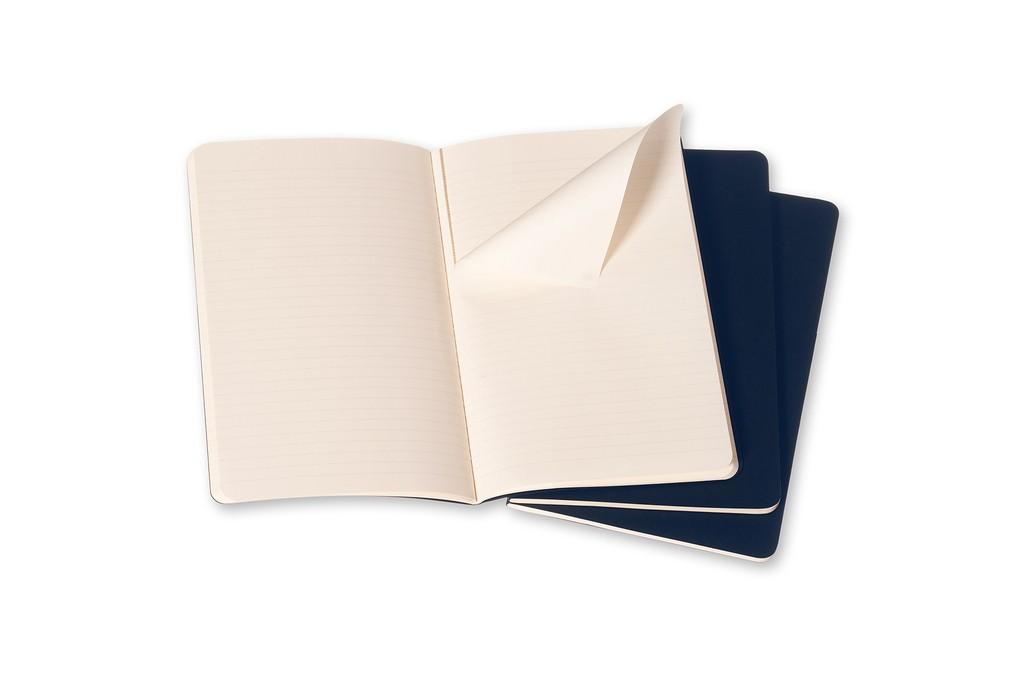 Caderneta Moleskine Cahier, Azul, Conjunto com 3 Unidades